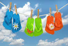 Colorful Flip-flops On Clothes...