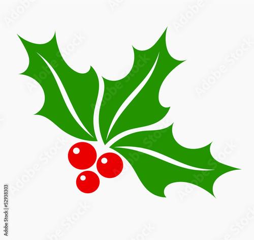 Holly berry symbol Fototapete
