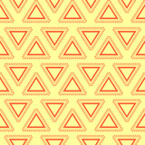 Tribal yellow seamless pattern.