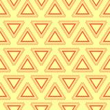 Tribal yellow seamless pattern.
