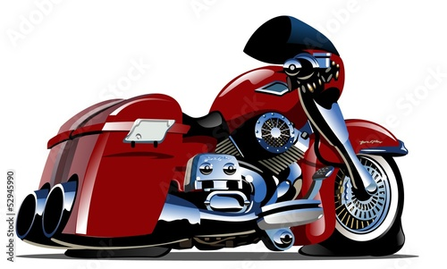 Printed kitchen splashbacks Motorcycle Vector Cartoon Motorbike