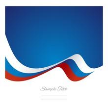 Abstract Russian Flag Ribbon Vector