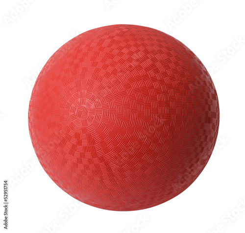 Tuinposter Bol Red Dodge Ball