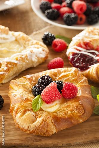 Fotografie, Obraz  Homemade Gourmet Danish Pastry