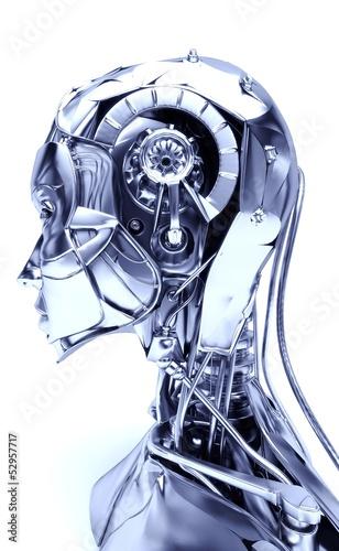 Photo Cyborg, robot, Androide volto, 3d, informatica, computer