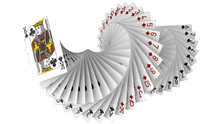 3d Rendering Of Playing Cards