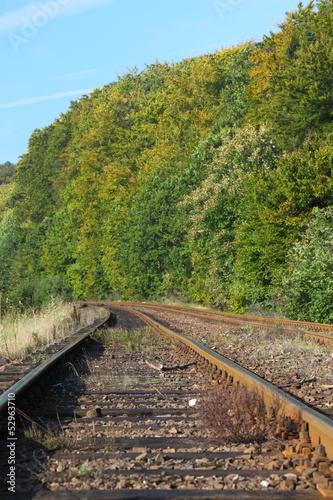 Poster Voies ferrées Rail Road Tracks