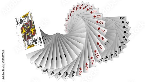 Photo  3d Rendering of Playing Cards