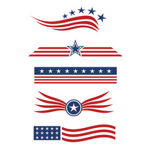 USA Star Flag Logo Design Elem...