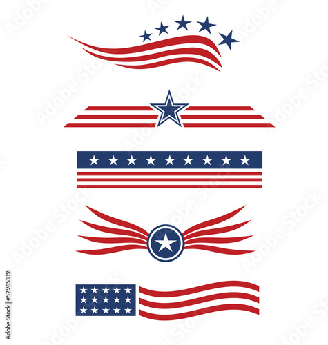 usa star flag logo design elements buy this stock vector and
