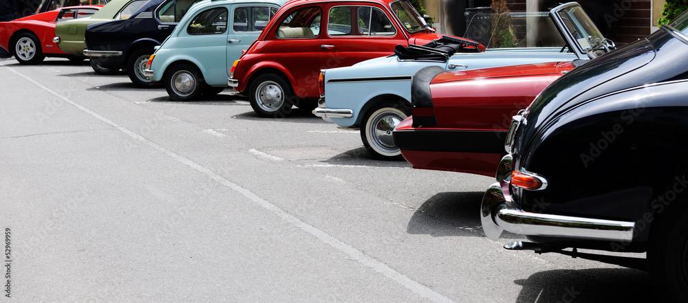 Fototapeta vintage car show