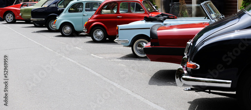 Spoed Foto op Canvas Vintage cars vintage car show