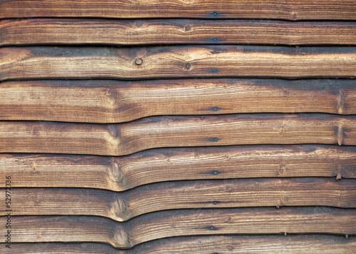 Papiers peints Bois Weathered larch lap fence panel