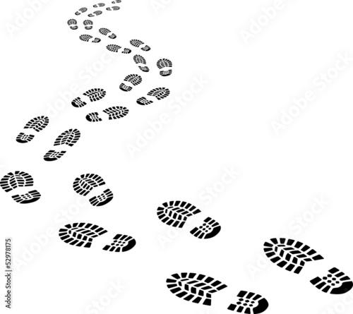 receding footprints Fototapet