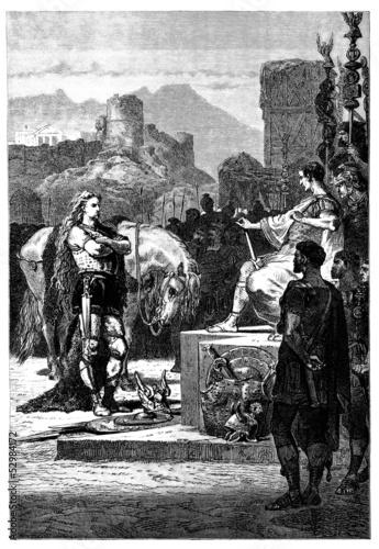 Fotografie, Obraz Ancient Rome vs Gaul : Vercingetorix & Cesar