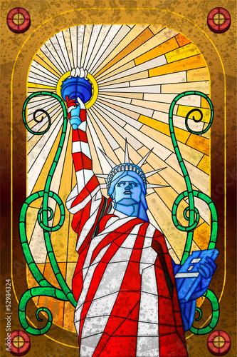 Naklejka Na Szybę Statua Wolności Decorprintpl