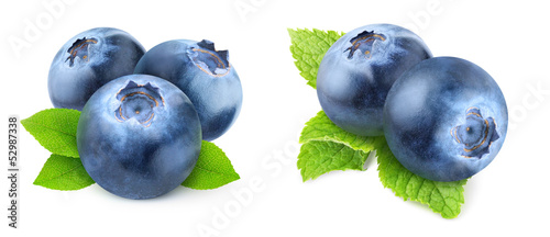 Fotografie, Tablou Isolated blueberries