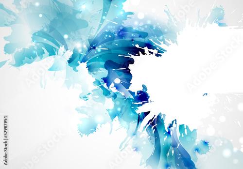 Abstrakcjonistyczny artystyczny tło tworzy kleksami