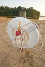 Ring Buoy On A Beach