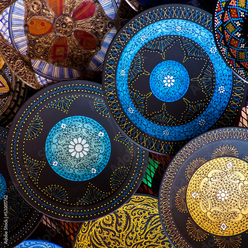Poster Maroc Morocco crafts: traditional arabic pottery.