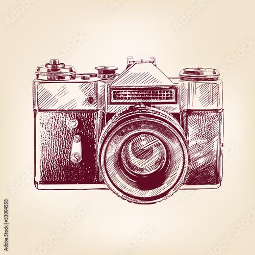 vintage old photo camera vector llustration