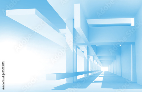 Abstract architecture 3d background