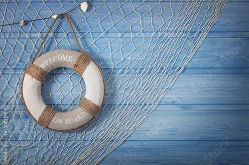 Fotografie, Obraz  Life buoy decoration
