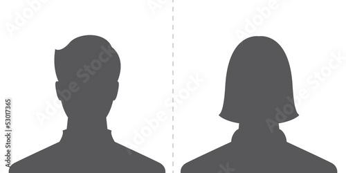 Fotografía  male and female profile picture