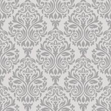 Grey Seamless Damask Pattern