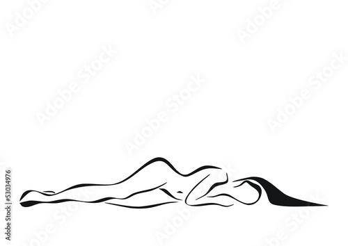 Fototapeta kobieta leżąca obraz