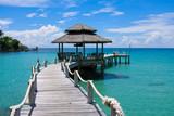 Fototapeta Fototapety z mostem - Wooden pier, Thailand.