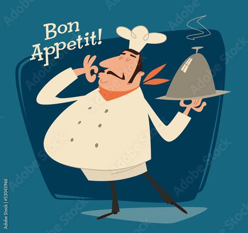 szef-kuchni-restauracji-retro-ilustracji
