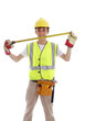Smiling builder or carpenter