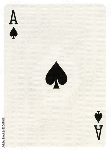 Playing Card - Ace of Spades Wallpaper Mural