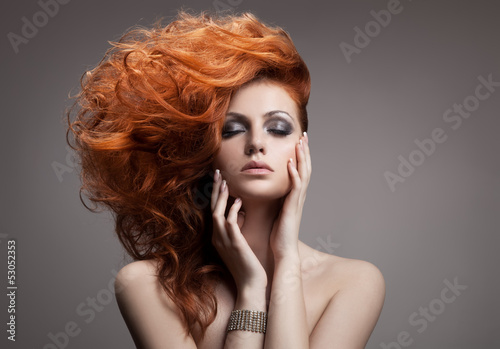 Beauty Portrait. Hairstyle Poster