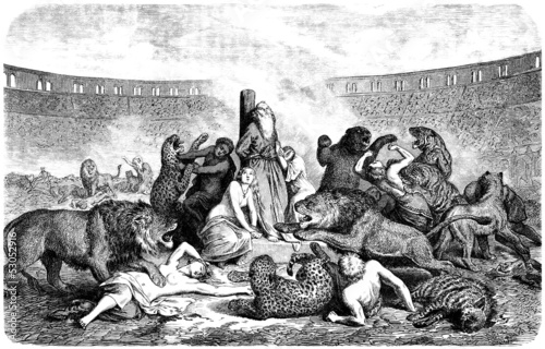 Fotomural Christian Martyrs in Arena - Ancient Rome