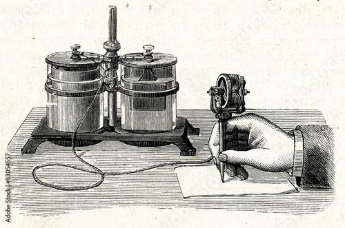 Tableau sur Toile Thomas Edison's electric pen