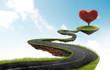 Leinwandbild Motiv The road to Heart tree