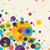 Colorful abstraction with circles.