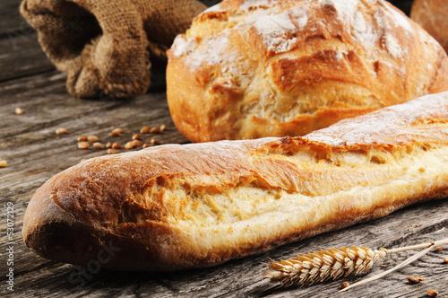 Fotografia, Obraz  Freshly baked traditional French bread
