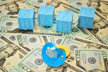 Blue Baby Blocks With Pacifier...