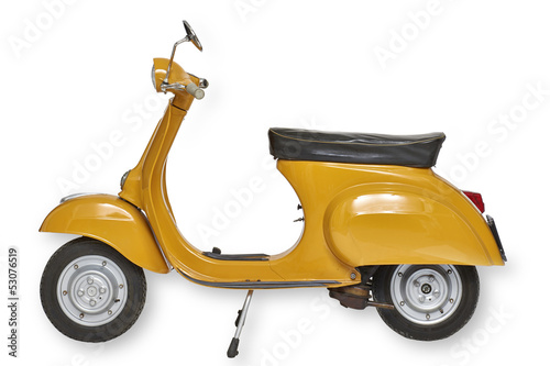 Deurstickers Scooter Vintage vespa scooter