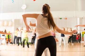 Fototapeta Dance class for women