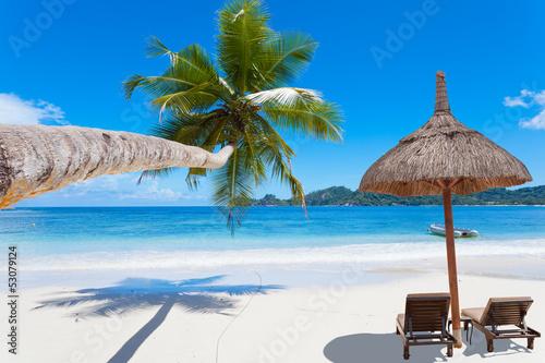 Obraz Rajska plaża Seszeli - fototapety do salonu