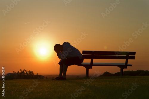 Tablou Canvas Sad at Sunset