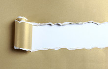 Ripped Gold Paper