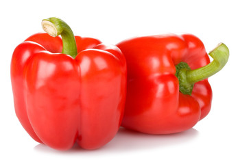 two red fresh peppers