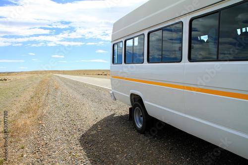 Fotografie, Obraz  Minibus on Roadside