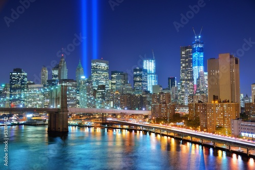 Fototapety, obrazy: New York City and Tribute in Light