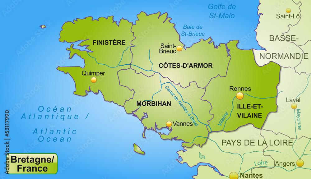 Nantes Karte.Gamesageddon Stock Karte Der Bretagne Mit Departements Und Umland